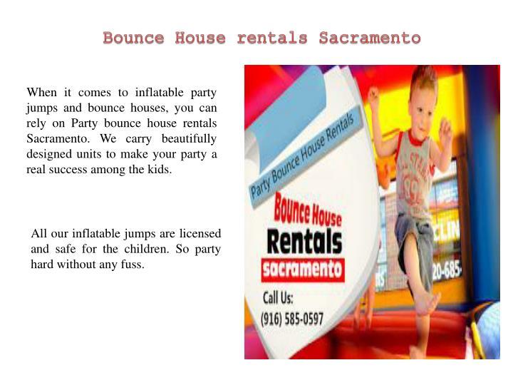 Bounce House rentals Sacramento