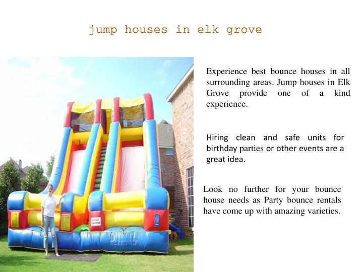 jump houses in elk grove
