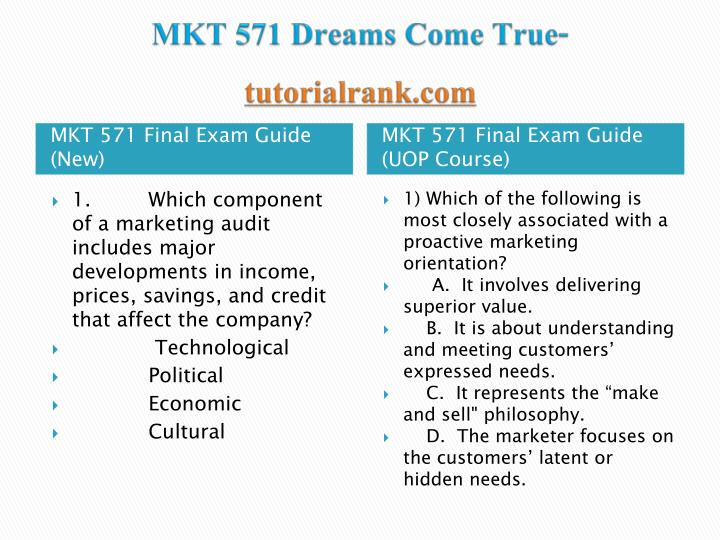 Mkt 571 dreams come true tutorialrank com1