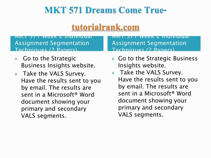 MKT 571 Dreams Come True