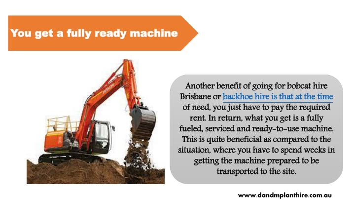 You get a fully ready machine