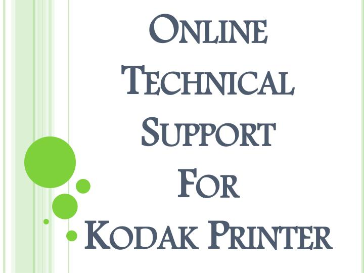 Online technical support for kodak printer