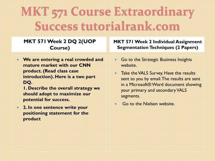 MKT 571 Week 2 DQ 2(UOP Course)