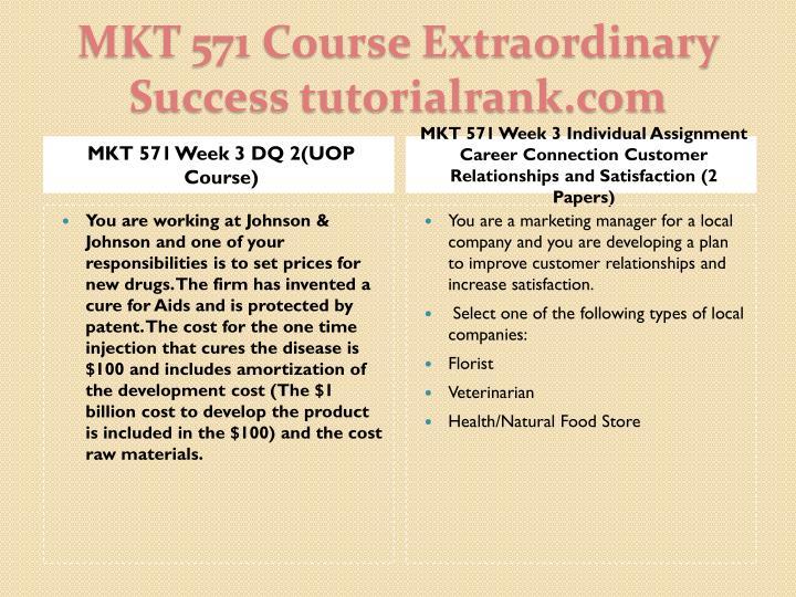 MKT 571 Week 3 DQ 2(UOP Course)