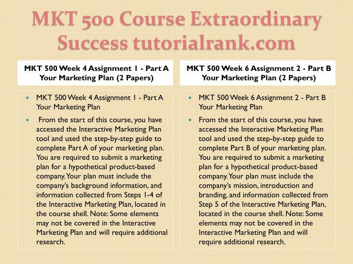Mkt 500 course extraordinary success tutorialrank com1