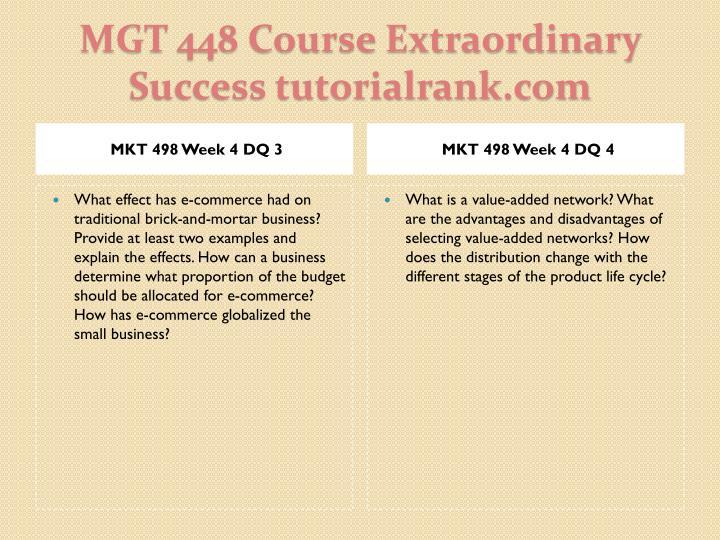 MKT 498 Week 4 DQ 3