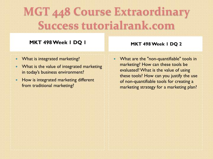Mgt 448 course extraordinary success tutorialrank com2