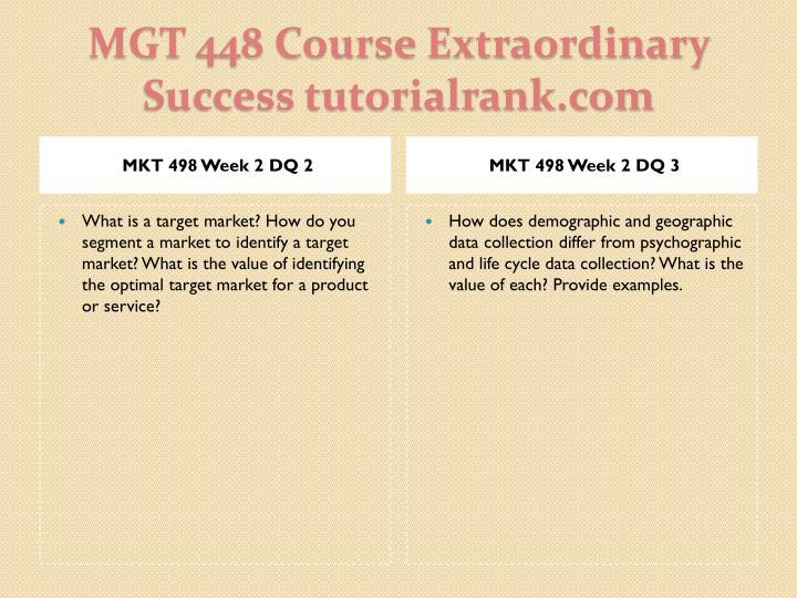 MKT 498 Week 2 DQ 2