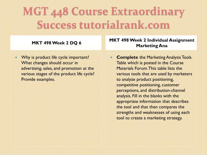MKT 498 Week 2 DQ 6
