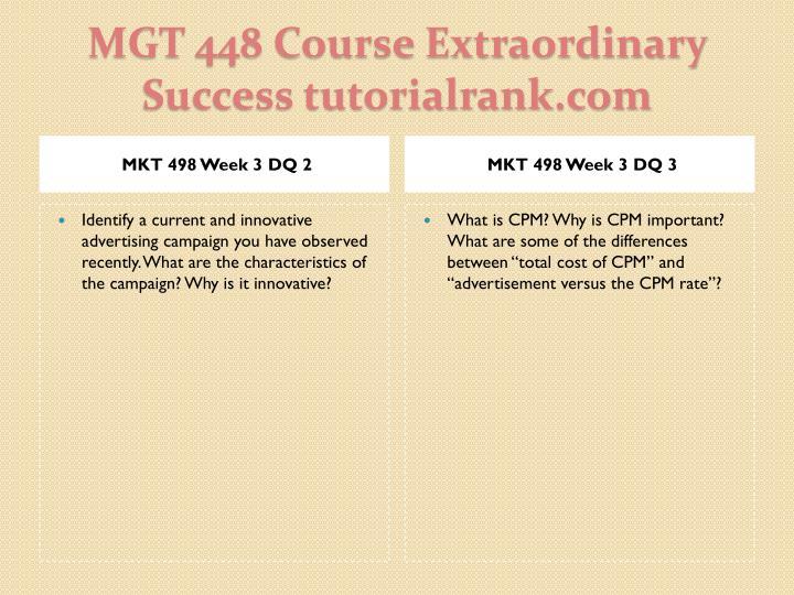 MKT 498 Week 3 DQ 2