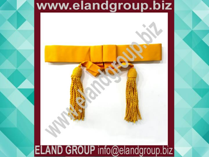 British army yellow waist sash