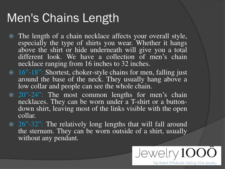 Men's Chains Length