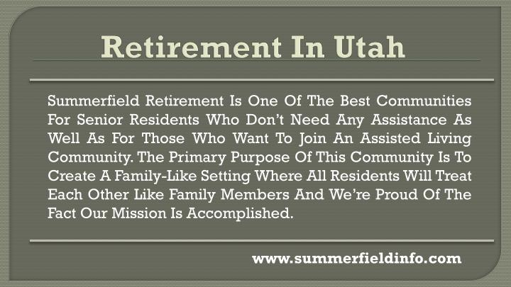 Summerfield Retirement Is One Of The Best Communities