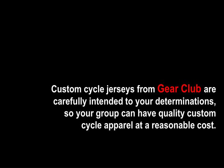 Custom cycle jerseys from