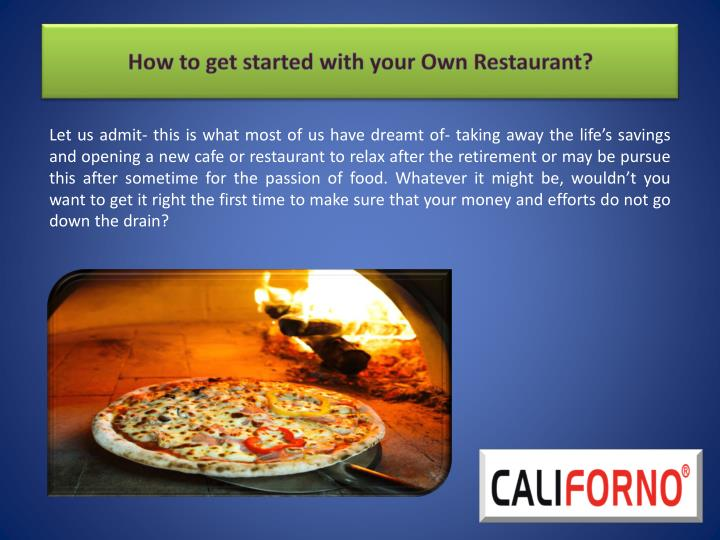 How to get started with your own restaurant