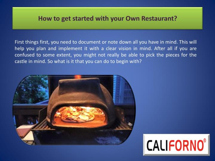 How to get started with your own restaurant2