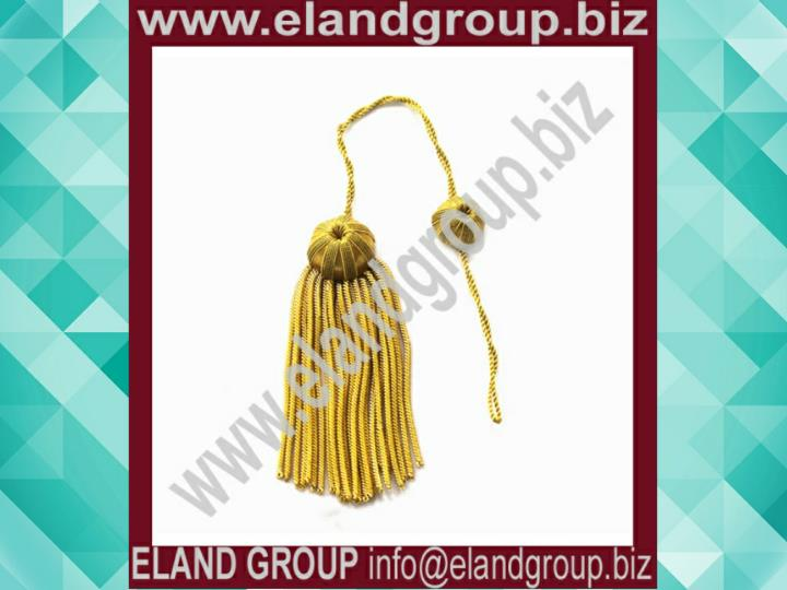 Doctoral tam gold bullion tassel