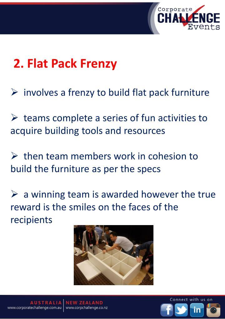 2. Flat Pack Frenzy