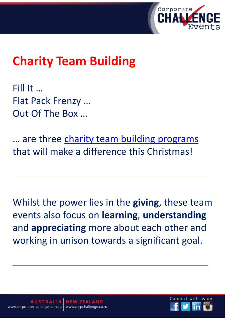 Charity Team Building