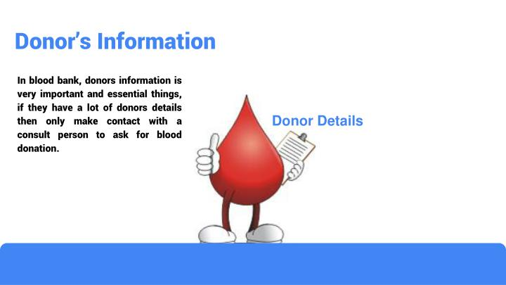 Donor's Information