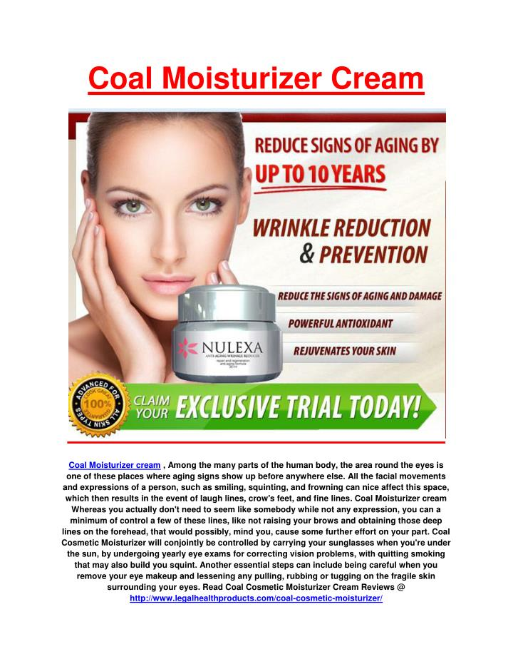 Coal Moisturizer Cream