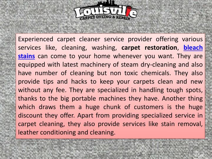 Experienced carpet cleaner service provider offering various services like, cleaning, washing,