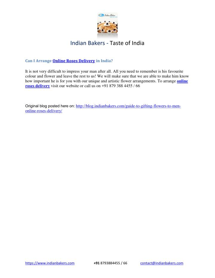 Indian Bakers - Taste of India