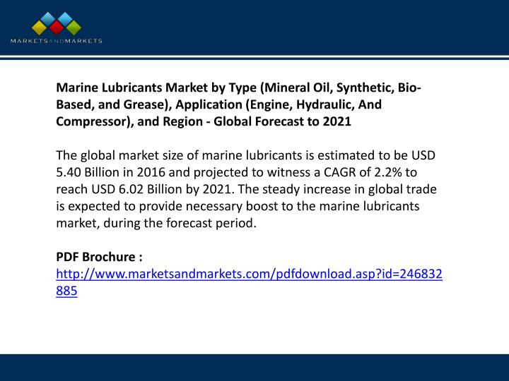 Marine Lubricants Market by Type (Mineral Oil, Synthetic, Bio-Based, and Grease), Application (Engin...