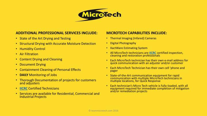 ADDITIONAL PROFESSIONAL SERVICES INCLUDE: