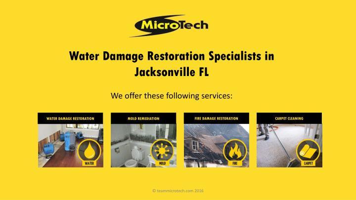 Water Damage Restoration Specialists in Jacksonville FL