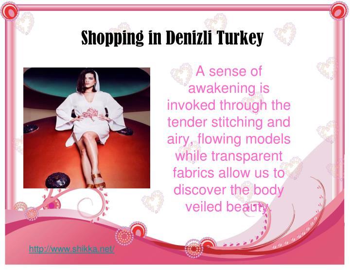 Shopping in Denizli Turkey