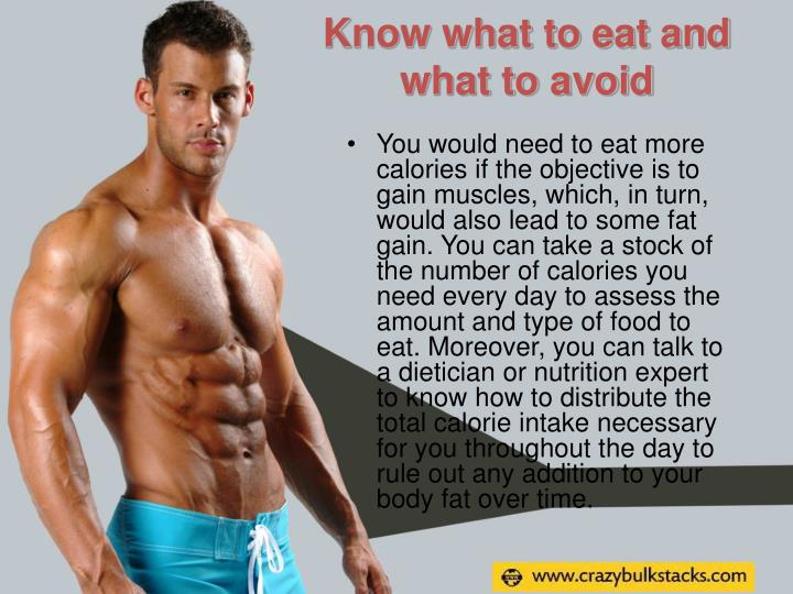 Know what to eat and what to avoid
