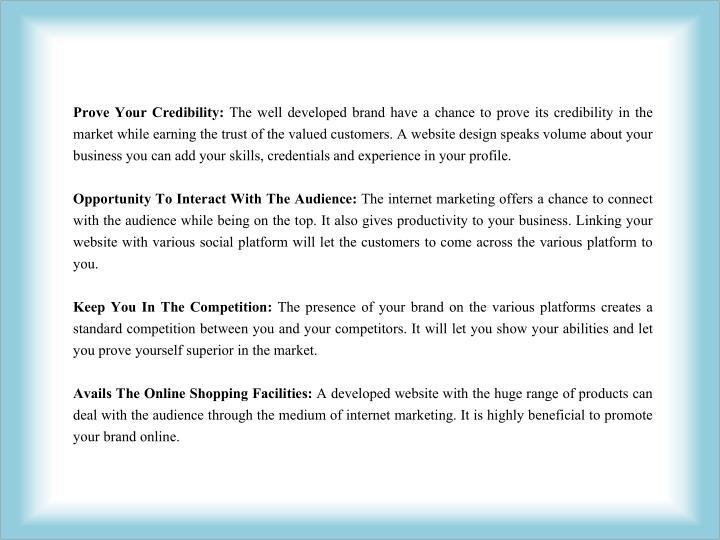 Prove Your Credibility: