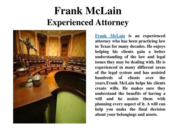Frank McLain