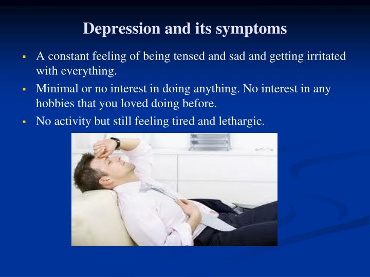 Depression and its symptoms