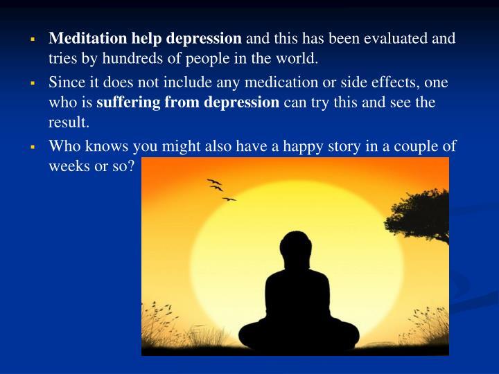 Meditation help depression