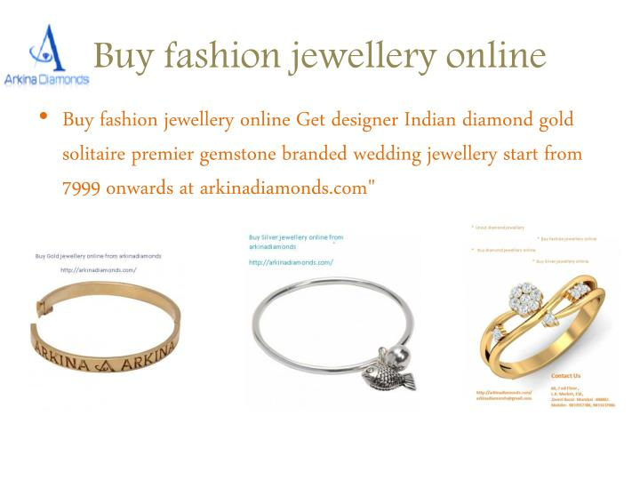 Buy fashion jewellery online