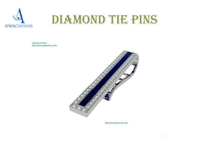 Diamond Tie Pins