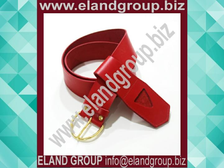 Masonic regalia kt red leather belt frog