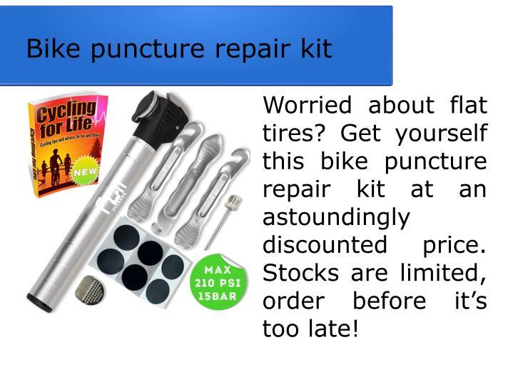 Bike puncture repair kit