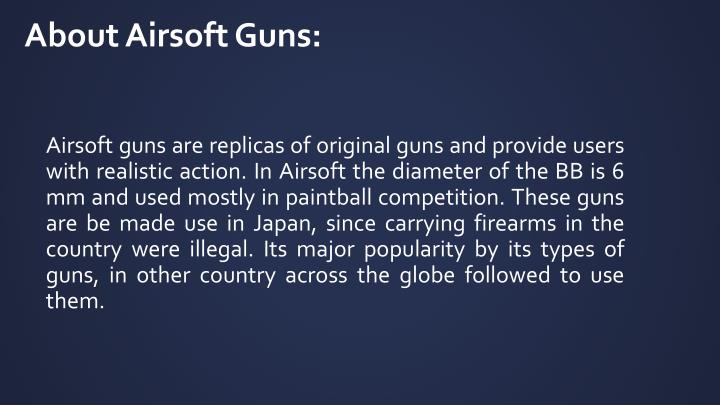 About airsoft guns