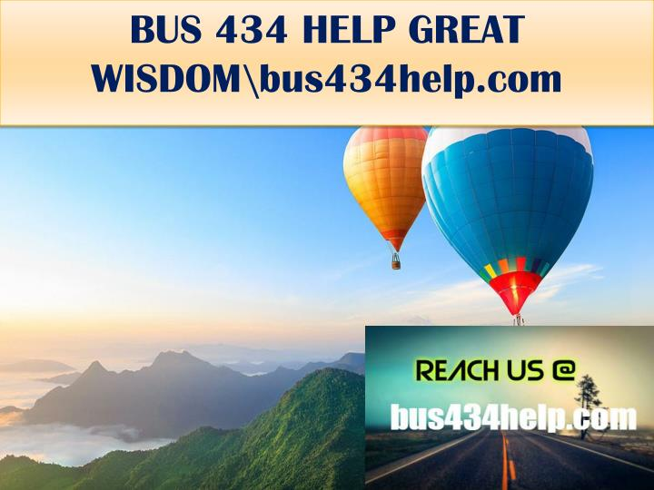 Bus 434 help great wisdom bus434help com