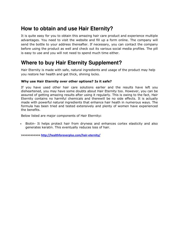 How to obtain and use Hair Eternity?