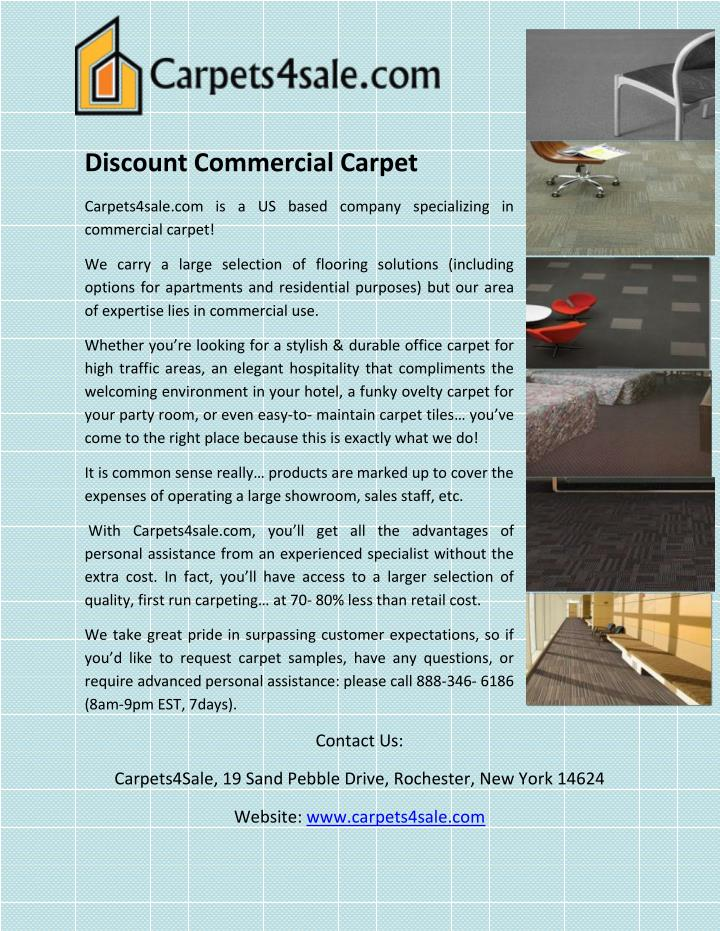 Discount Commercial Carpet