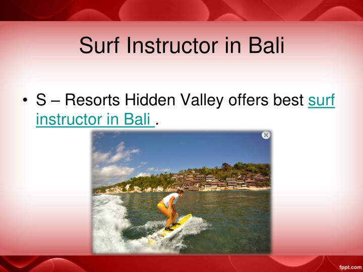 Surf Instructor in Bali