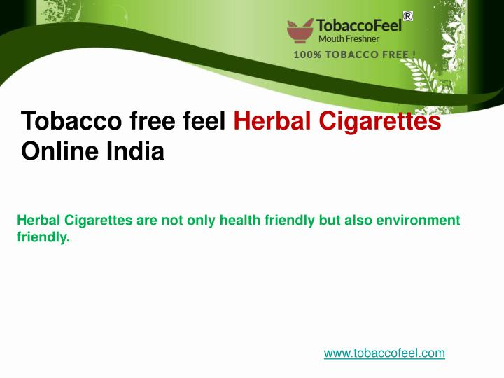 Tobacco free feel