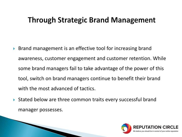 Through strategic brand management