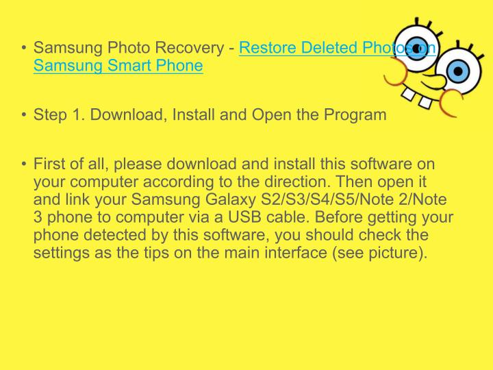 • Samsung Photo Recovery - Restore Deleted Photos on