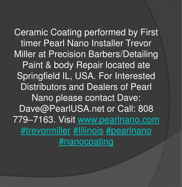 Ceramic Coating performed by First