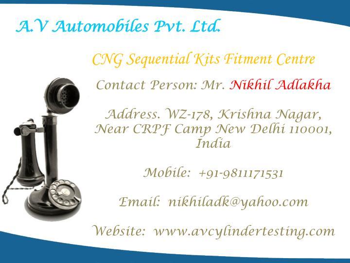 A.V Automobiles Pvt. Ltd.